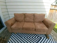 brown fabric 2-seat sofa 732 km