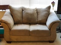 2 brown/tan Couch and loveseat Alexandria, 22301