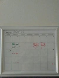 white monthly plan with white framed London, N6A 2T9