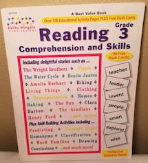 Reading Grade 3 Comprehension and Skills. Never used. Good condition!!