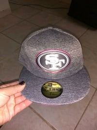 gray and red San Francisco 49ers cap Galt, 95632
