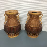 Woven reed vases Girard, 44420