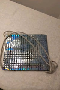 Silver toned small bag