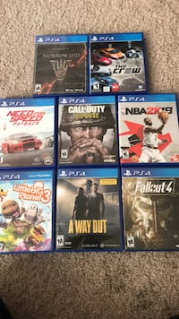 six assorted PS4 game cases Fairfax, 22030