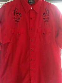 Vintage mens cowboy shirt size XL  Treasure Island