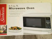 Barely used black and white microwave oven box Silver Spring, 20910