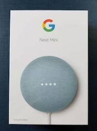 Google Nest Mini (Sky Blue) - sealed and brand-new McLean
