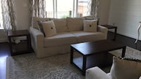 Gently used wood coffee table and three accent tables Ashburn, 20147