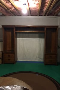 Solid Oak Entertainment Center Falling Waters, 25419
