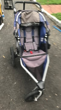 Baby's gray and blue jogging stroller New Providence, 07974