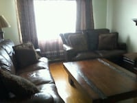 Set of 2 leather sofa and coffee table neg. Montréal, H1T 3T2