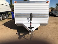 white and black utility trailer Victorville, 92392