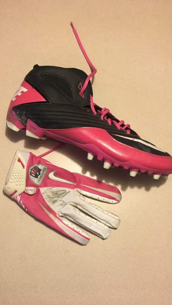 new concept 09b51 99ee8 Oakland Raiders breast cancer awareness game worn gear. (negotiable)