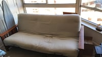 white leather tufted sofa bed Arlington, 22203