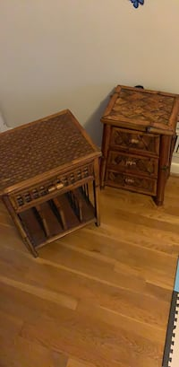 Two brown wooden side tables Hyattsville, 20783