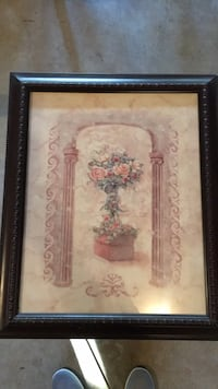Brown wooden framed painting of flowers Perry Hall, 21128