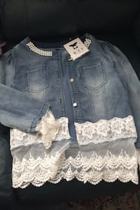 Women's jean and lace Jacket