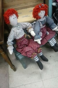 two red haired dolls