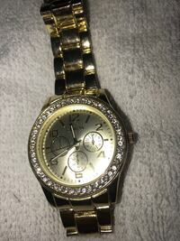 round gold-colored Rolex chronograph watch with link bracelet Montgomery Village, 20886