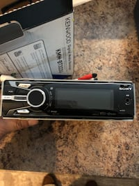 black Sony 1-DIN vehicle stereo Falls Church, 22042