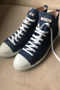 Miu Miu ankle denim sneakers size 40 West Vancouver, V7T 1N1