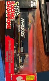 Adult collectable 1/64 scale stock car with racing team transporter Spring Grove, 17362