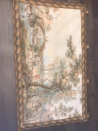 "Vintage Wall Tapestry 53 1/2 "" x 31"" excellent condition"