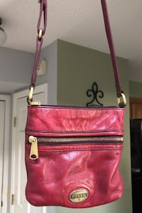 Fossil Oxblood Leather Bag