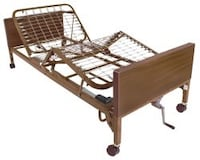 brown wooden folding bed frame Fairfax, 22030