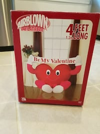 Inflatable Valentine. Open box, never used .