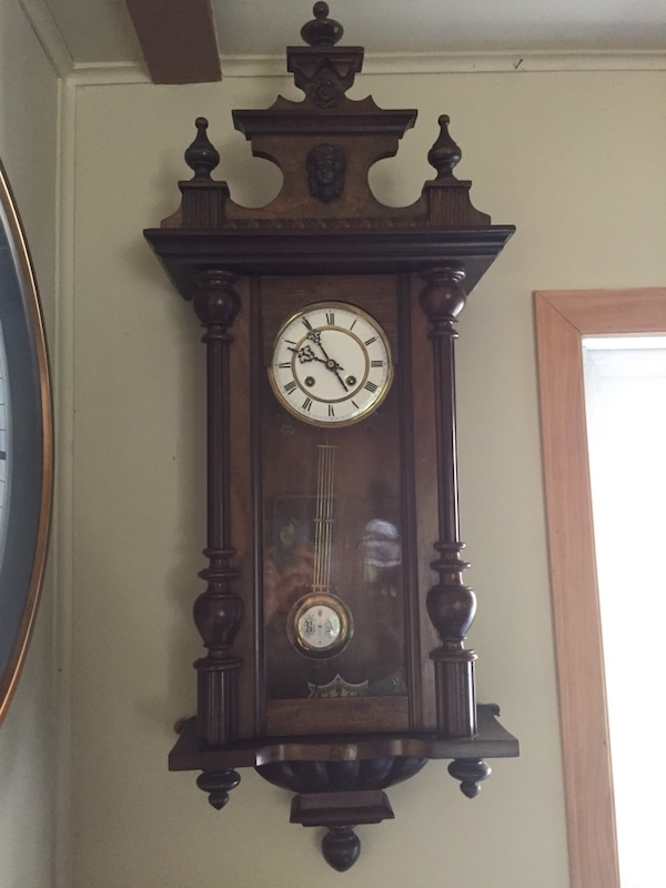 Used Antique 8 Day Vienna Regulator Clock For Sale In