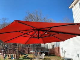 Red Patio Umbrella - lights no longer work
