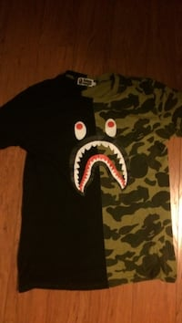 Black and green a bathing ape crew-neck t-shirt