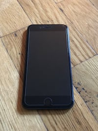iPhone 8 Plus jet black with box and comes with a original Apple case in brown . 32 gig.NO TRADING Hamilton, L9C 2S8