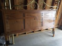 Brown wooden headboard and night stands  Henderson, 89052