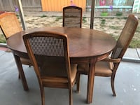 brown wooden table with chairs Lathrop, 95330
