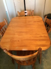 Wood kitchen table