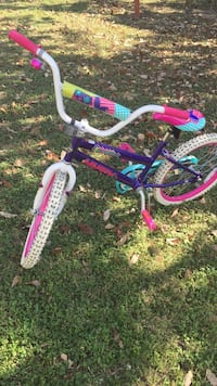 Girls youth purple and pink bicycle! Barely used in great shape!