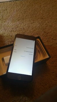 black Android smartphone with box 42 km