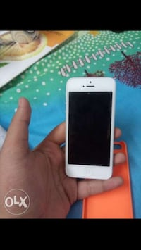 White iphone 5 with case