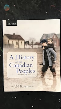 A History of the Canadian People by J.M. Bumsted Burnaby, V5H 1Z9