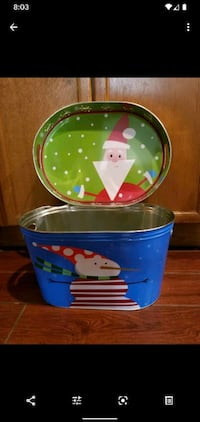 Christmas decorations holiday party tray bucket serving set