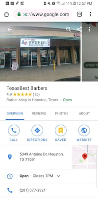 Hair styling + Barbershop Business  Houston, 77091