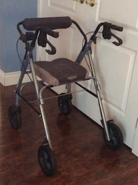 black and gray rollator walker
