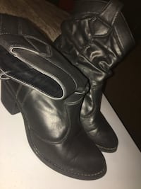 pair of black leather boots Crosby, 77532