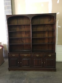 Brown wooden cabinet with hutch Chantilly, 20151