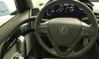 black Acura steering wheel