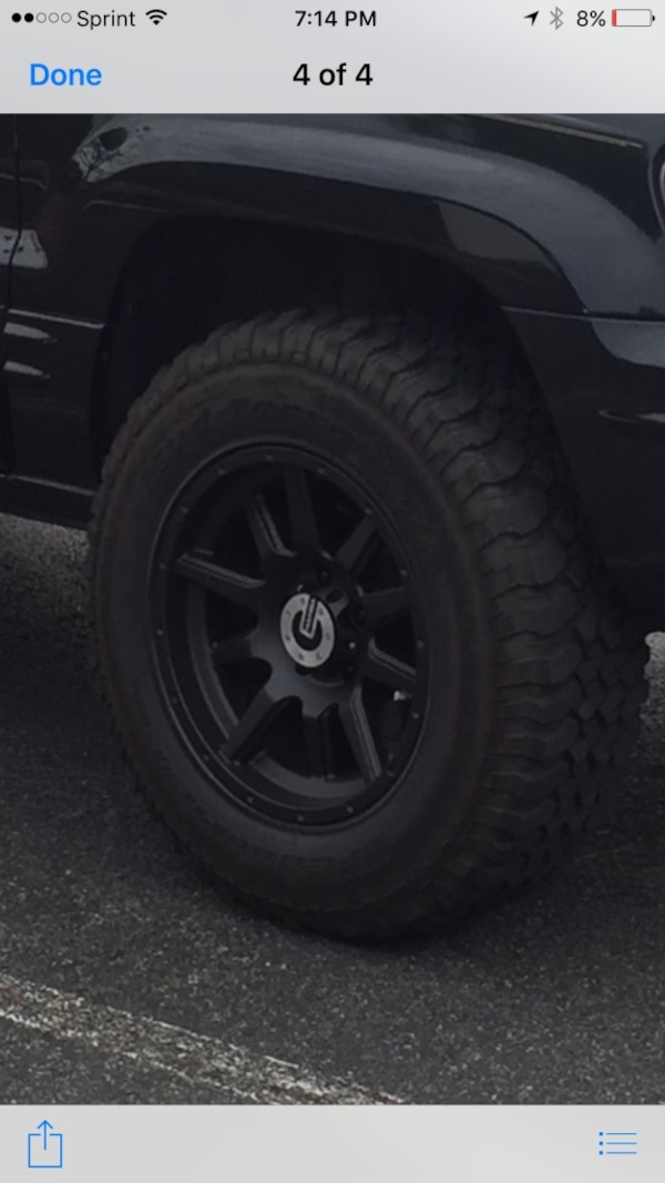 Rims and Tires. Came off Jeep Grand Cherokee with lift kit.