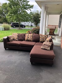 brown and white sectional couch New Market, 21774
