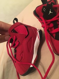 Pair of red air Jordan's.  Edmonton, T5G 0S7